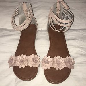 Size 7 Justice Sandals like new maybe worn once